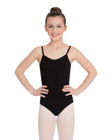 Child Princess Camisole Leotard (Black) - Dancer's Wardrobe