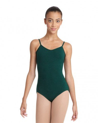 Adult V Neck Camisole Leotard (Hunter) - Dancer's Wardrobe