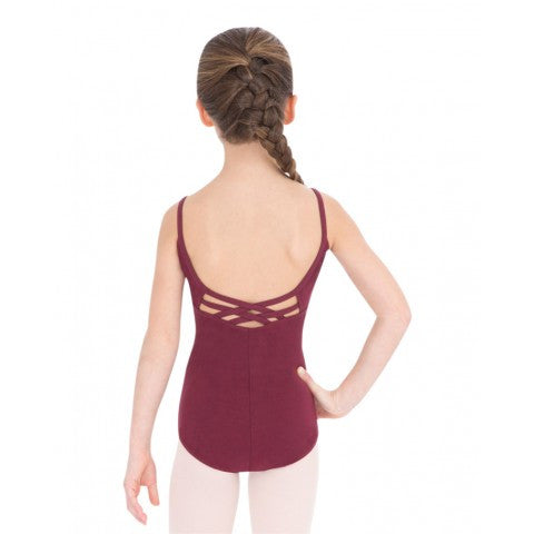Child V-Neck Camisole Leotard (Burgundy) - Dancer's Wardrobe