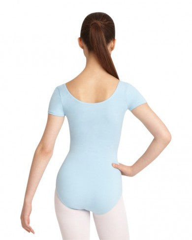Adult Short Sleeve Leotard (Pastel Blue) - Dancer's Wardrobe