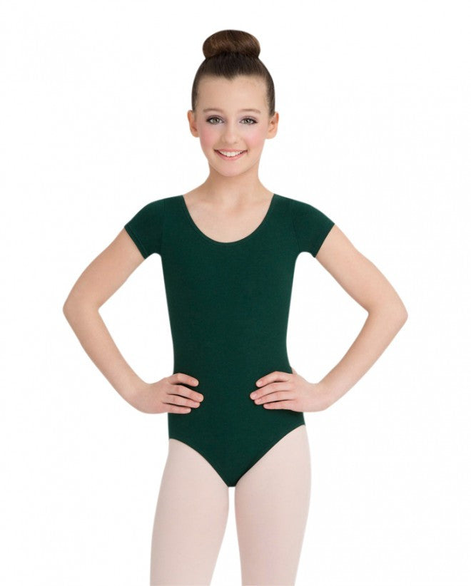 Child Short Sleeve Leotard (Hunter) - Dancer's Wardrobe