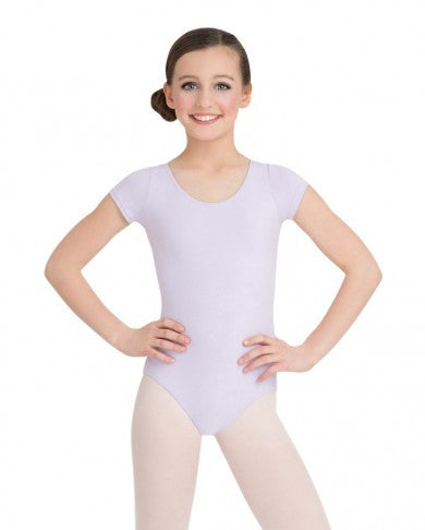 Child Short Sleeve Leotard (Lavender) - Dancer's Wardrobe