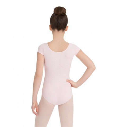 Child Short Sleeve Leotard (Pink) - Dancer's Wardrobe
