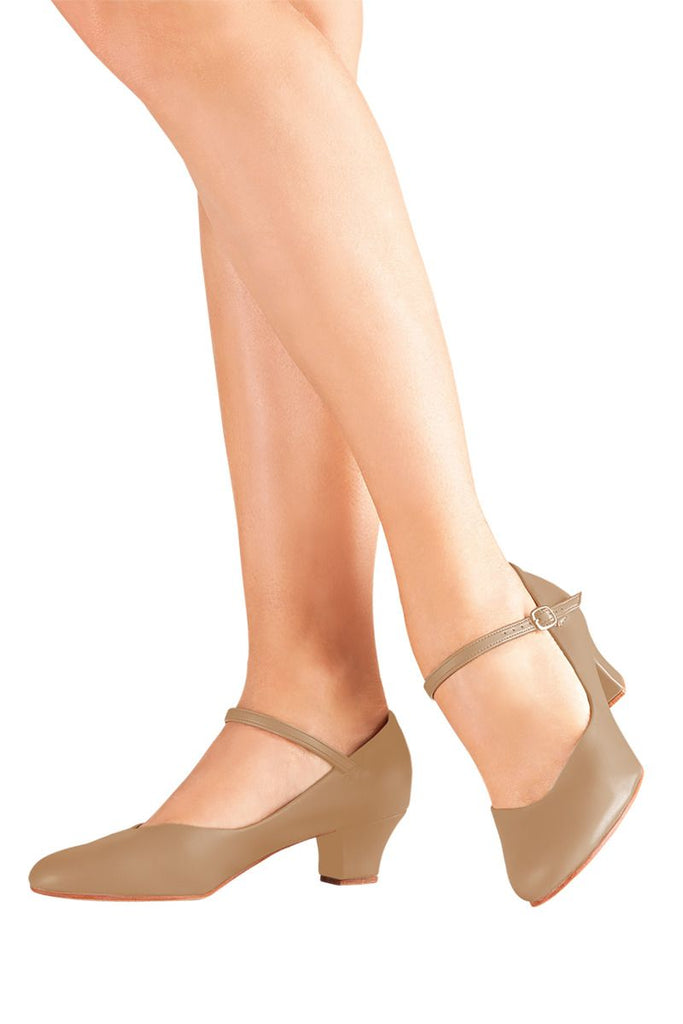 "1.5"" Heel Character Shoe CH-50 Caramel, Ladies Size 7.5 Wide (Kids 5.5)"