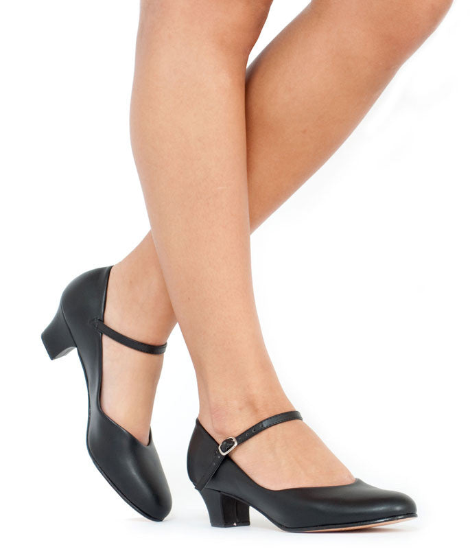 "1.5"" Heel Character Shoe (Black) - Dancer's Wardrobe"