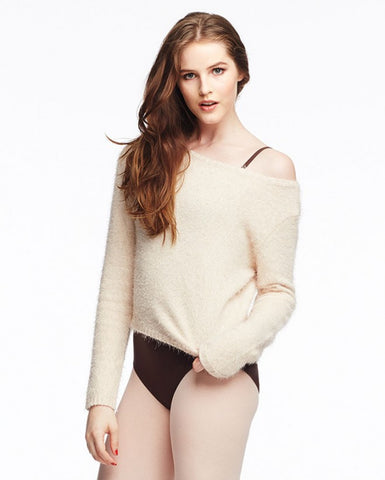 Long Sleeve Crop Top (Fuzzy) - Dancer's Wardrobe