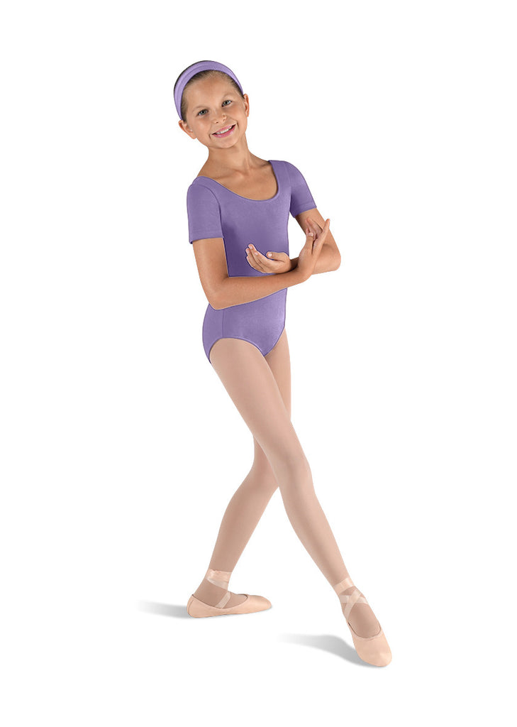 Child Basic Short Sleeve Leotard (Lavender) cl5402 - Dancer's Wardrobe