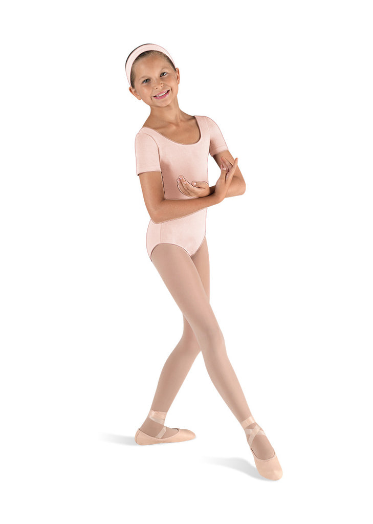 Child Basic Short Sleeve Leotard (Light Pink) cl5402 - Dancer's Wardrobe