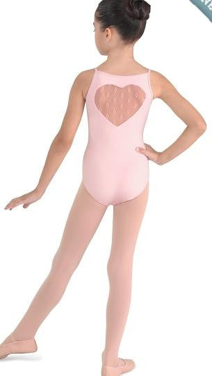 Child Mesh Heart Back Leo - Dancer's Wardrobe
