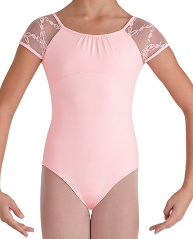 Child Butterfly Cap Slv Leotard (Pink) - Dancer's Wardrobe