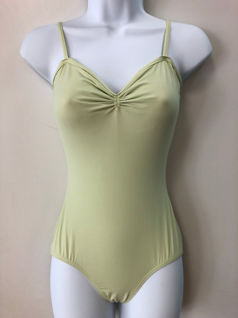 Camisole Sweetheart Neck Leotard Adult Small - Celery Green P335