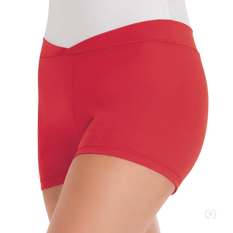 "Adult Microfiber ""V"" Front Short 44754 (Red)"