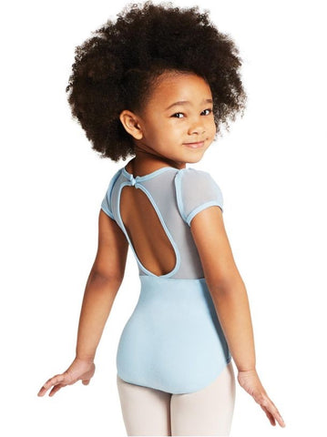 Puff Sleeve Leotard 11311C - Child Small (4-6), Light Blue