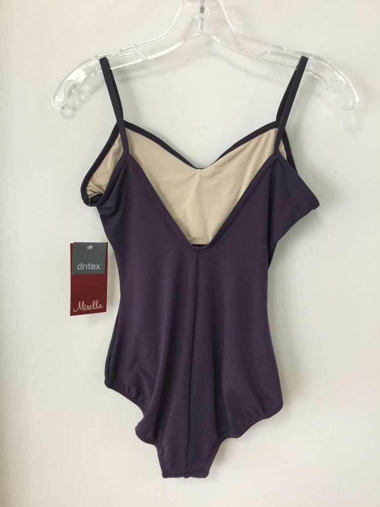 Seamed V Front Camisole Leotard Blackberry M207LD - Adult Large