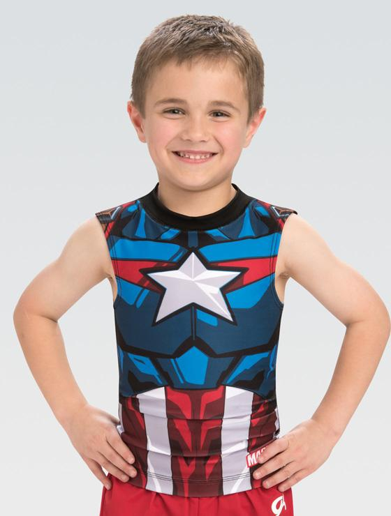 Activate Captain America Compression Shirt MV034 - Child Size Large