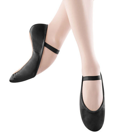 Child Dansoft Full Sole Leather Ballet Slipper (Black) S0205G - Dancer's Wardrobe