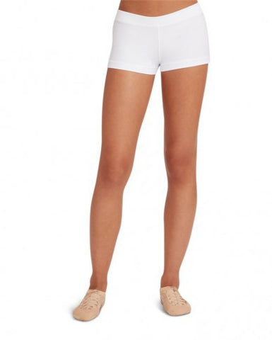 Adult Boy Cut Low Rise Short (White) tb113 - Dancer's Wardrobe