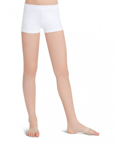 Child Boycut Shorts (White) tb113c - Dancer's Wardrobe