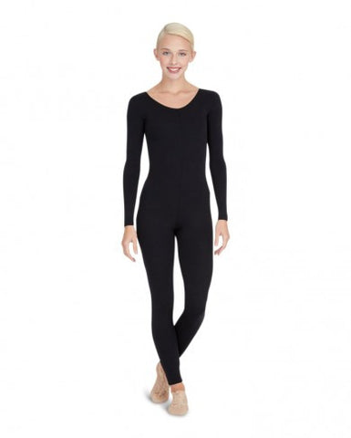 Adult Long Sleeve Unitard (Black) - Dancer's Wardrobe