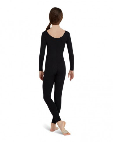 Child Long Sleeve Unitard (Black) - Dancer's Wardrobe