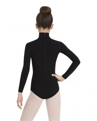 Child Turtleneck Leotard with Snaps TB123c (Black) - Dancer's Wardrobe