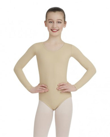 Child Long Sleeve Leotard (Nude) - Dancer's Wardrobe