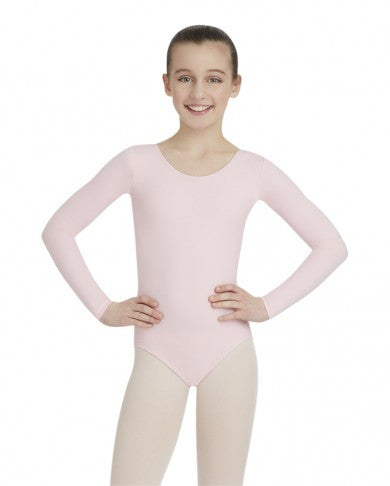 Child Long Sleeve Leotard (Pink) TB134C - Dancer's Wardrobe