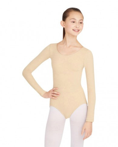 Adult Long Sleeve Leotard (Nude) - Dancer's Wardrobe