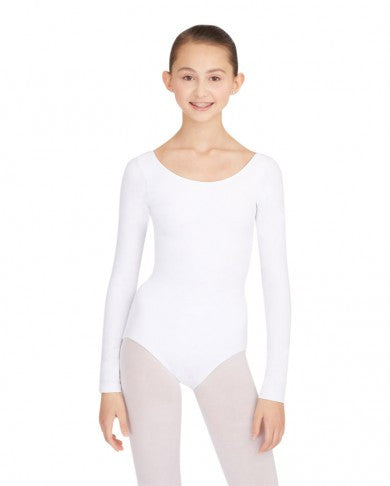 Adult Long Sleeve Leotard (White) - Dancer's Wardrobe