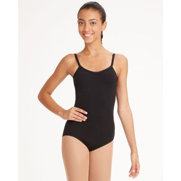 Adult Camisole Leotard w/Adjustable Straps (Black) TB1420 - Dancer's Wardrobe