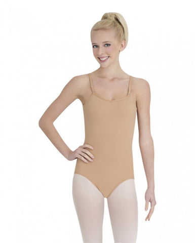 Child Cami Leotard w/ Adjustable Straps (Nude) - Dancer's Wardrobe