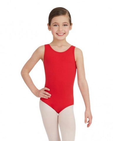 Child Tank Leotard (Red) (MFA) - Dancer's Wardrobe