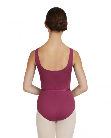 V Neck Pinched Front Leotard (Cerise) - Dancer's Wardrobe