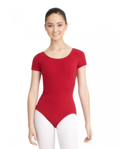 Adult Short Sleeve Leotard (Garnet) - Dancer's Wardrobe