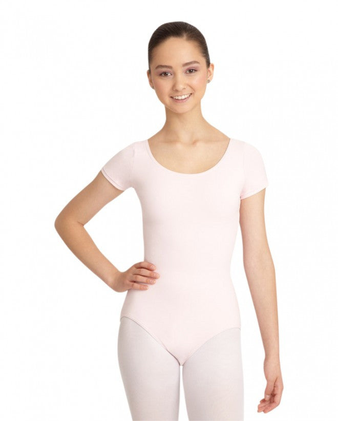 Adult Short Sleeve Leotard (Pink) - Dancer's Wardrobe