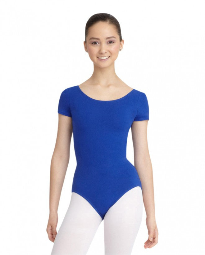Adult Short Sleeve Leotard (Royal) - Dancer's Wardrobe