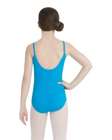 Child Cami Leotard w/Adjustable Straps (Turquoise) - Dancer's Wardrobe