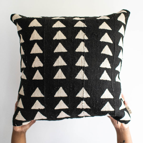 Black Mud Cloth Pillow