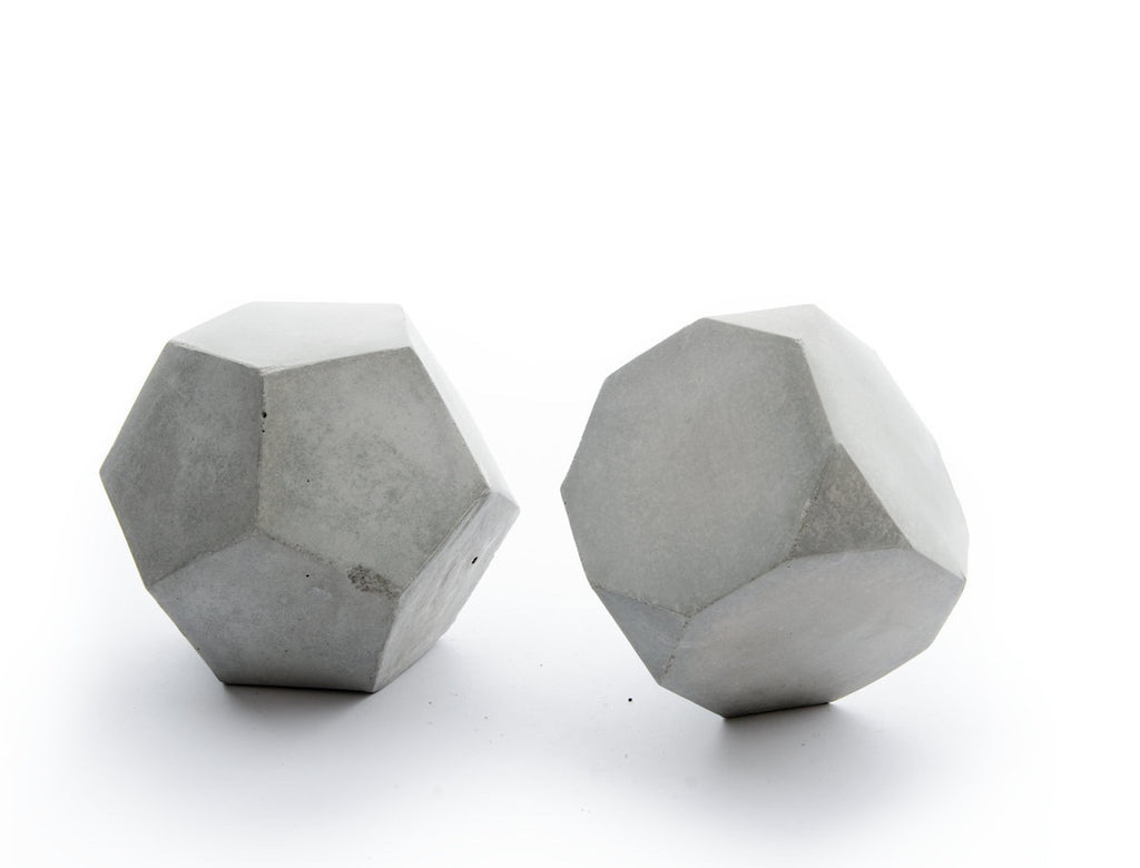 Concrete Geo Sculpture Set