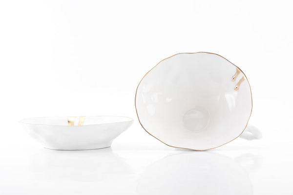 Quirky Tea Cup - White