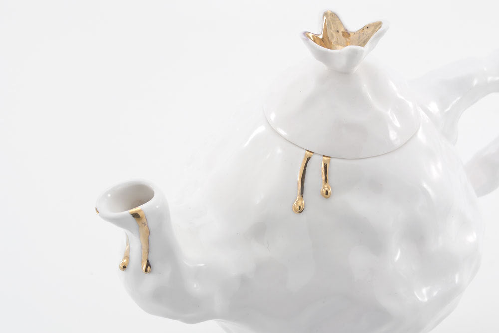 Whimsical Teapot - White