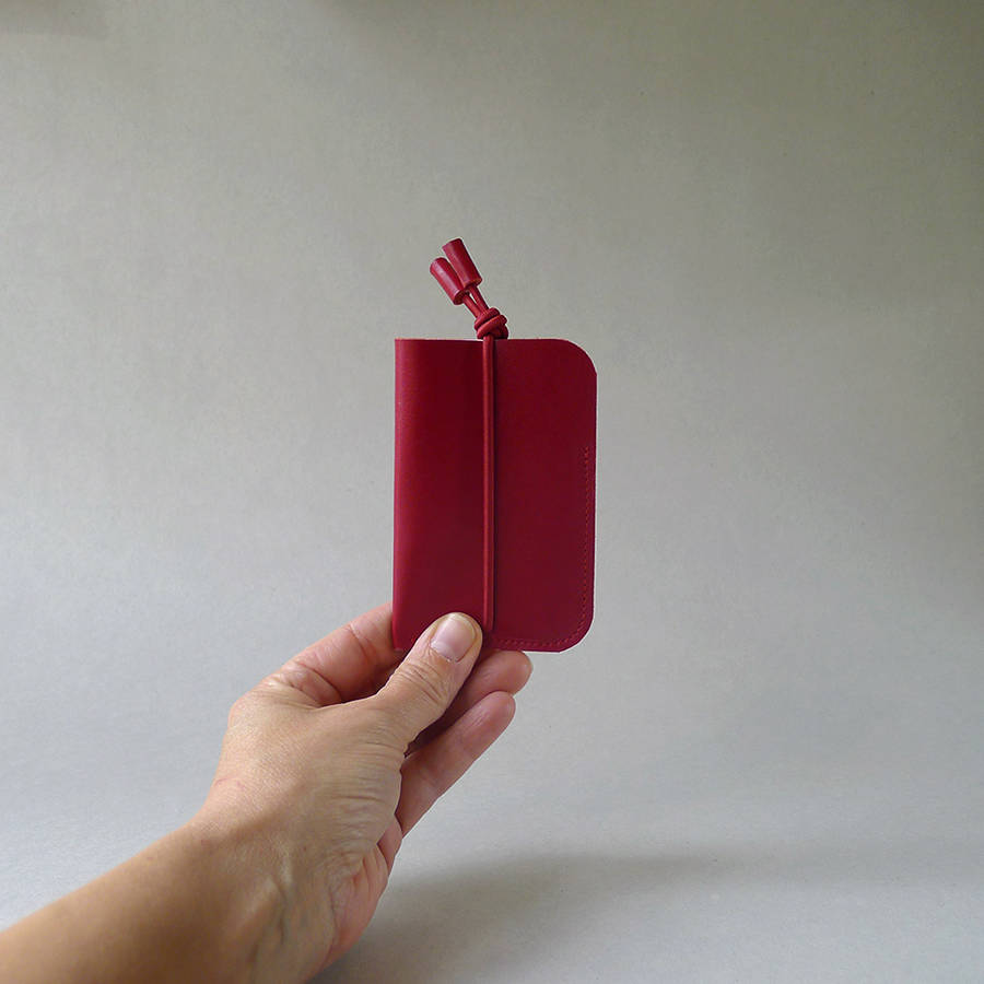 Red Bungee Card Holder
