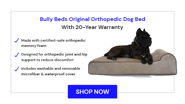 Bully Beds Original Orthopedic Dog Bed for Large Breed Dogs