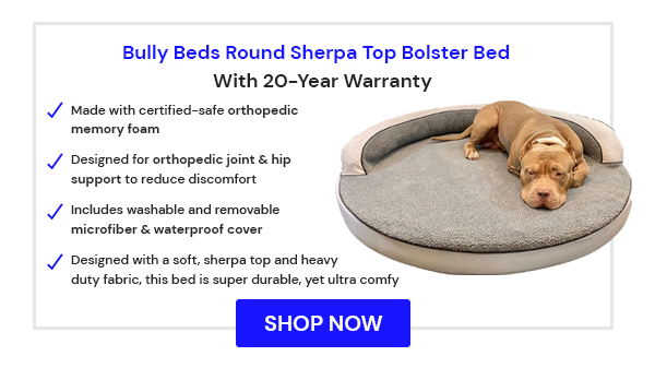 Round Sherpa Top Bolster Bed