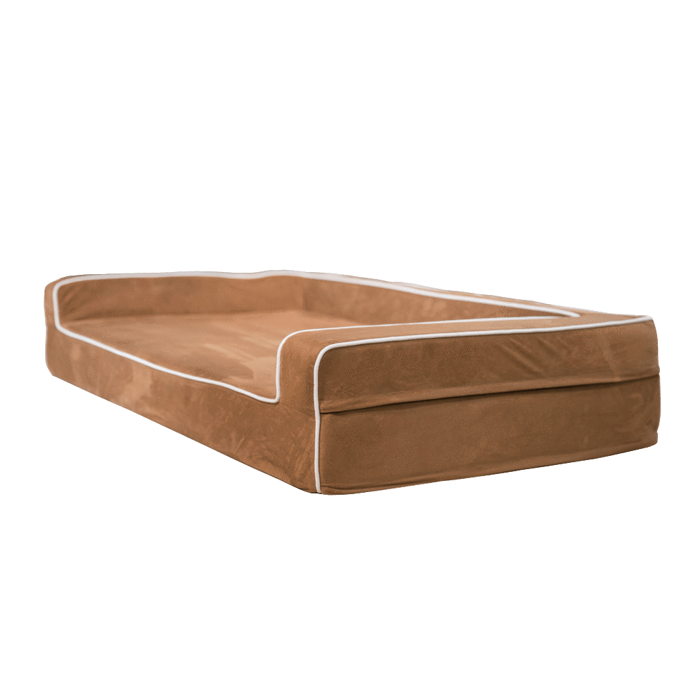 "Orthopedic 3 Sided Bolster Bed Bullybeds.com Medium $129.99 - 34""x22""x4"" Chocolate"