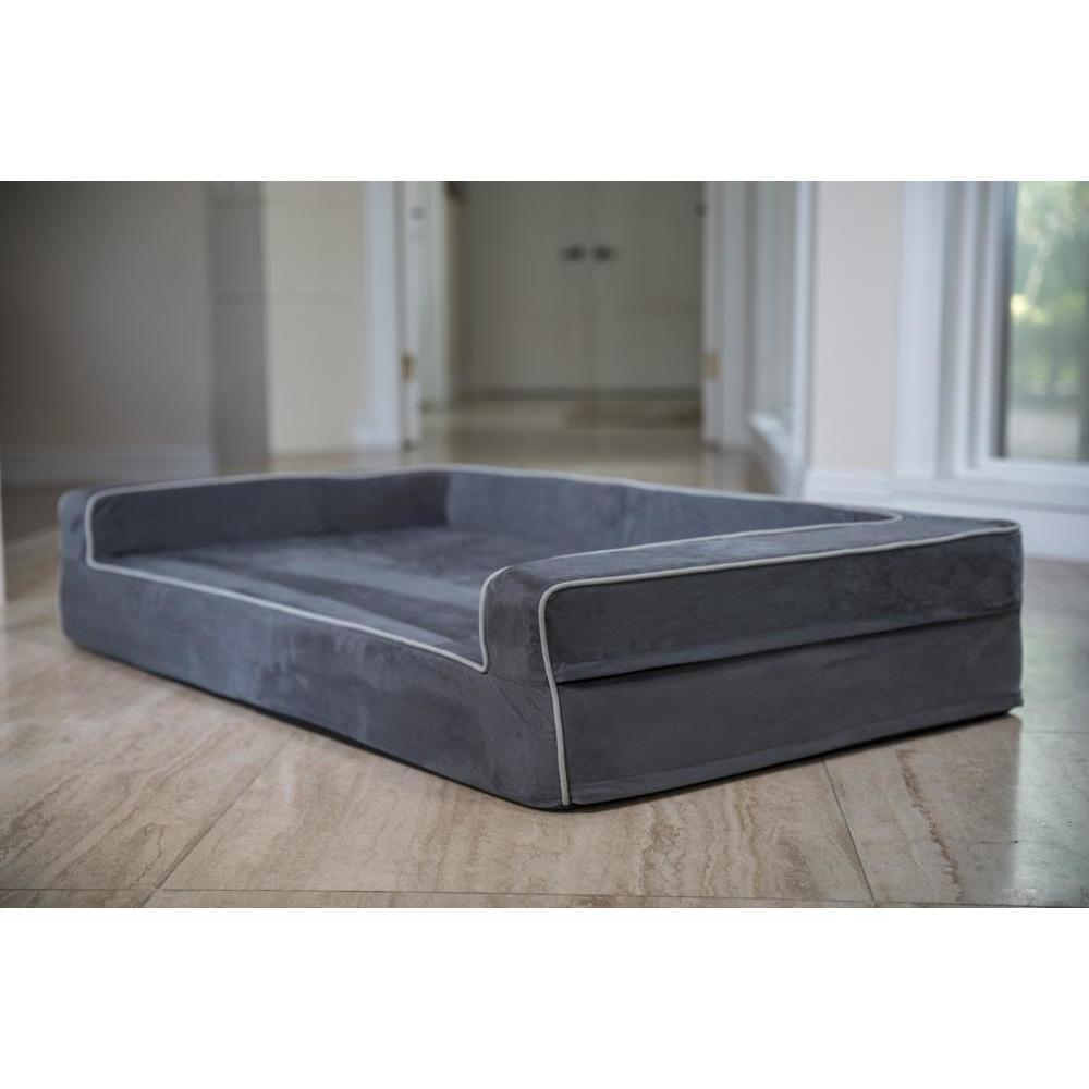 Orthopedic 3 Sided Bolster Bed Covers Covers Bullybeds.com Medium Gray
