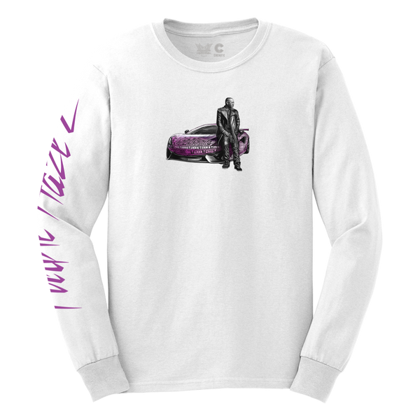 Purple Haze 2 Longsleeve Tee in White + Digital Album Download
