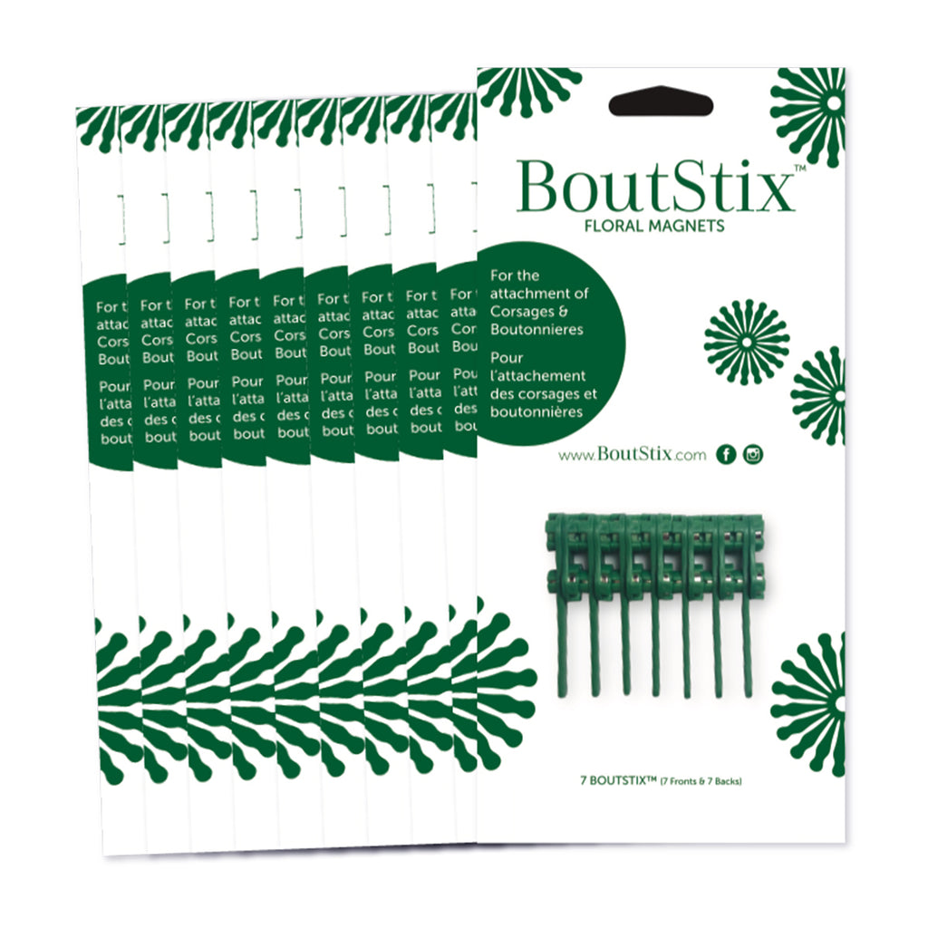 10-Packages of 7 Boutstix Floral Magnets