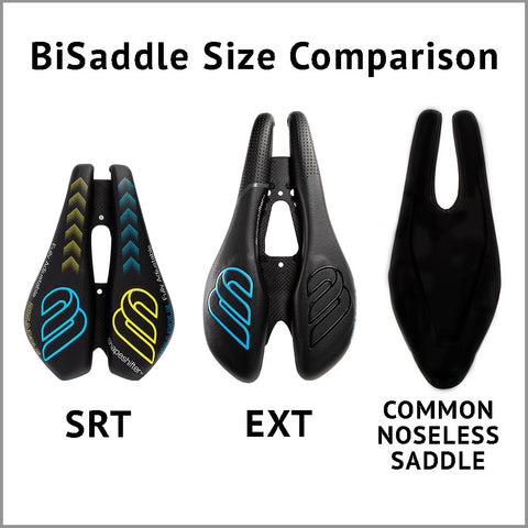 Refurbished BiSaddle SRT Black (Surface may have small scuffs or imperfections)