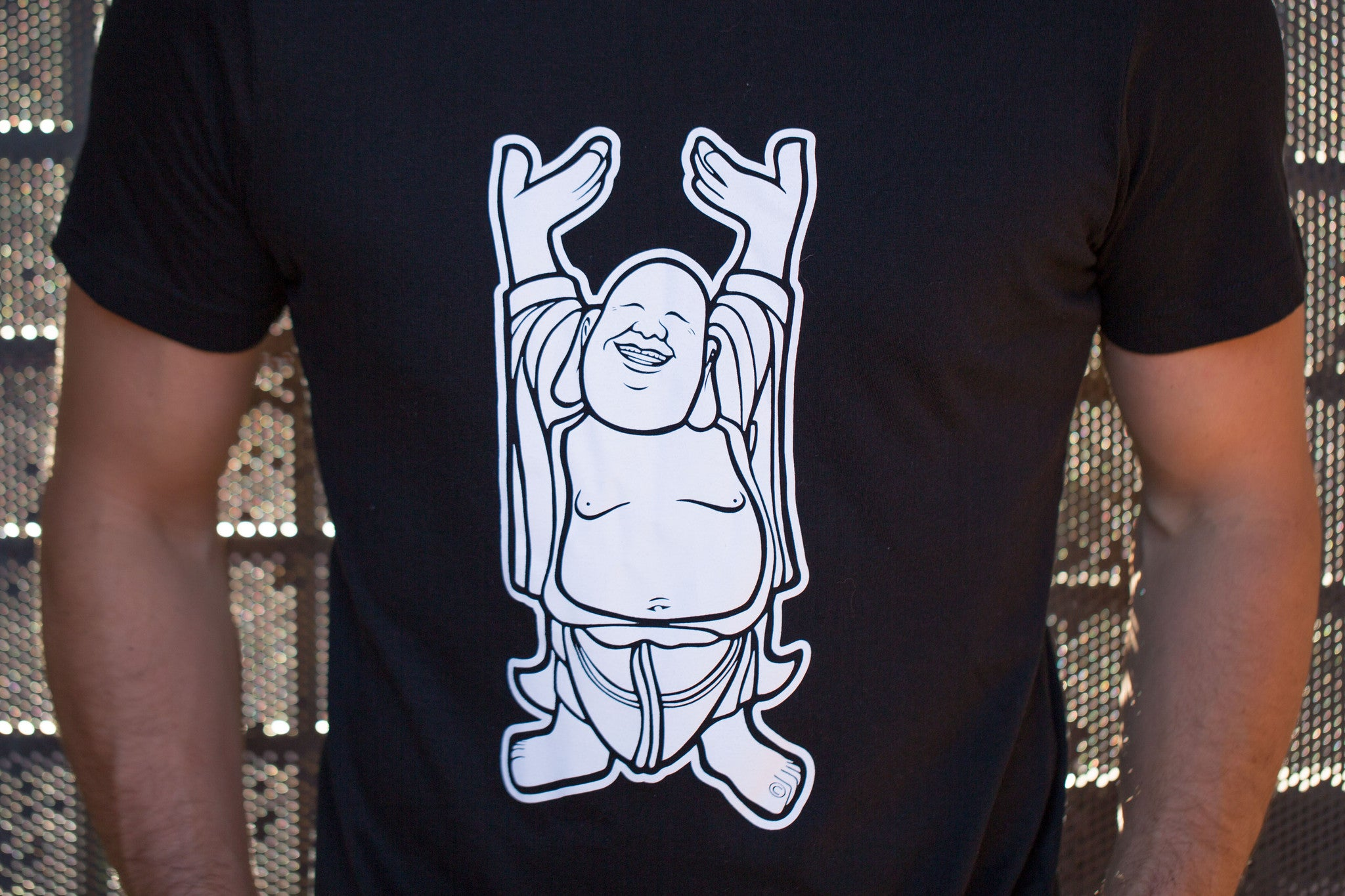 HappyBuddha.Guru T-Shirt (with Buddha Shield)